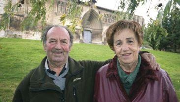 Los Amigos del Camino de Santiago de Estella. Goyo Ganuza y Loli Latorre