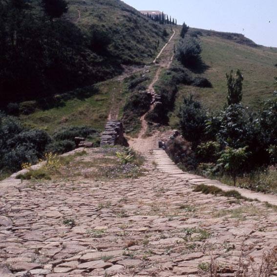 Los Amigos del Camino de Santiago de Estella. Calzada Romana. Cirauqui