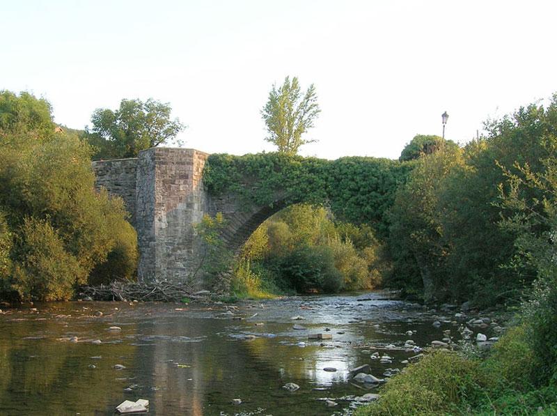 Amigos del Camino de Santiago de Estella. Puente de la Rabia. Zubiri